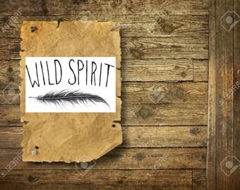 Wild spirit feather - Temporary Tattoo