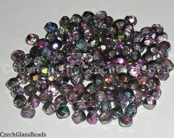 10g CZECH FIREPOLISHED BEADS 4mm 95600