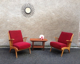 Pair of armchairs from the 50 60