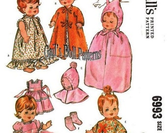 "Pattern for 8"" Toddler Wardrobe and a Tote Bag for dolls such as Baby Pebbles, Baby Chatty Cathy, and Littlest Angel,"