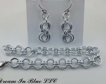 Alternating Double Link Jewelry Set