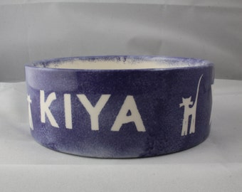 Personalised Ceramic Pet Bowl 2 Sizes and Various Colours Available