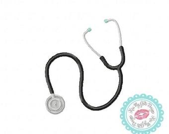 Stethoscope Machine Embroidery Applique Design