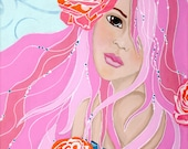 Rose Beauty Giclee Print 10x10 Mixed Media
