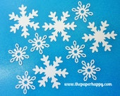 20 Large White Snowflakes Die Cuts Confetti Punches