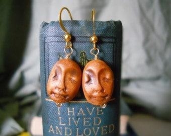 Little Tricksters bronze polymer clay earrings