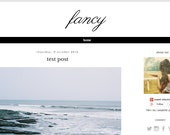"SALE Premade Blogger Template With Header - Blog Design | Blog Theme | Blog Layout  - ""Fancy"""