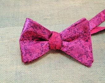 pink mens bow ties - adult bow ties - self tie bowties - pre tied bowties - wedding bowties, party bowties - funky bow ties ~ adult bowties