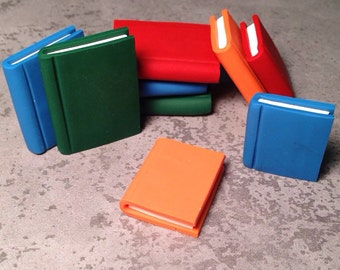 Books handmade from polymer clay - set of 4