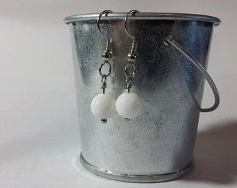 Genuine White Jade Earrings