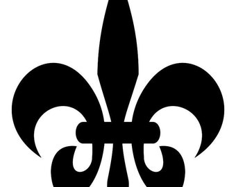 Fleur de lis  SVG Cutting Pattern - For printing, stencils, cutting and material printing