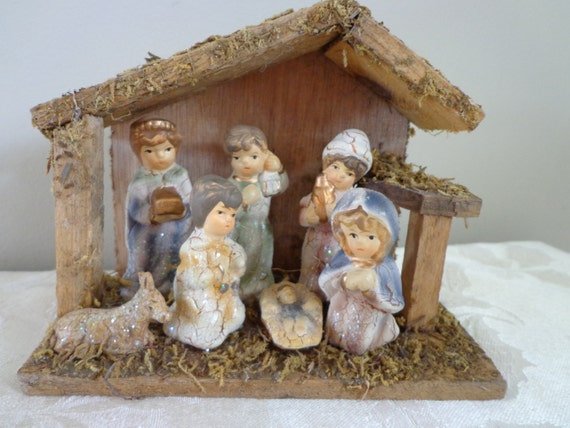 home interiors nativity items similar to manger wood nativity with 12336
