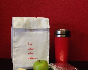 Jack White Sixteen Saltines themed Eco-friendly Reusable Lyrical Lunch Bag