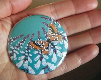 Fritillary & foxglove pocket mirror