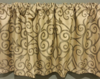 "Clearance Curtain Valance - One Lined Curtain Valance. 55"" x 16""  Window treatments"