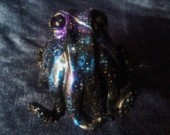 Space Galaxy Octopus Stash Jar or Keepsake Jar