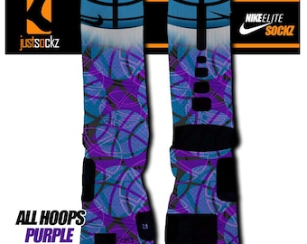 Custom Nike Elite All Hoops Purple