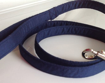 Navy Blue Dog Leash is 4 Foot, 5 Foot or 6 Foot Lengths
