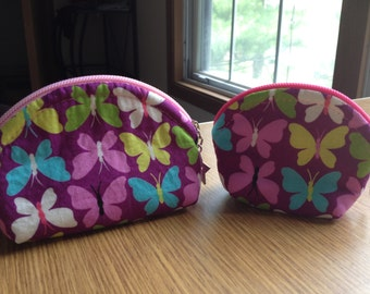 Butterfly coin purse set