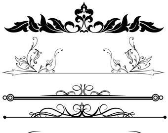 Gold Ornamental Divider Clipart Digital