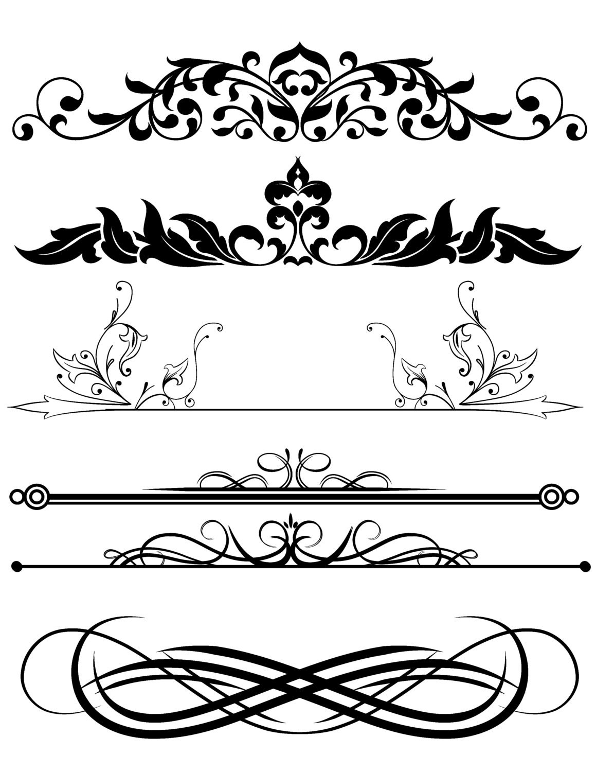 Line Art Design Background : Scroll divider clip art pictures to pin on pinterest