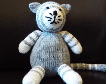 Handmade Handknitted Soft Toy Cat