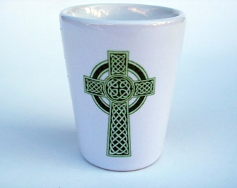 Cross Shotglass, Celtic Cross Shotglass