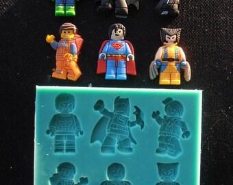 Silicone Mould LEGO HEROES Sugarcraft Cake Decorating Fondant / fimo mold