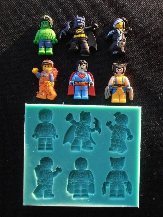 Silicone Mould LEGO HEROES Sugarcraft Cake Decorating Fondant