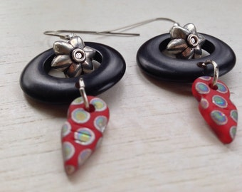 Tagua nut and tanfouk earrings