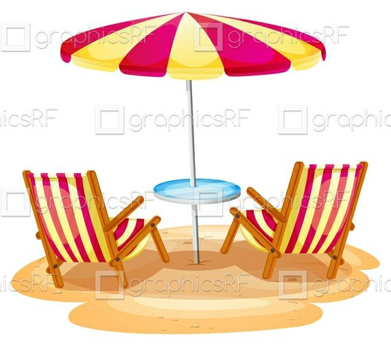 Items similar to a stripe beach umbrella and the two for Chaise 3d dessin