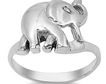Elephant Ring Sterling Silver 925