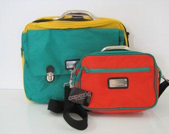 Set of 2 CAPEZIO Bag Shoulderbag Cross Body Hobo Carry On Travel Bag Vintage E779Bz