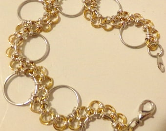 Gold Plated Snake Lace Chain Bracelet
