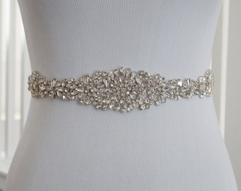 SALE - Wedding Belt, Bridal Belt, Sash Belt, Crystal Rhinestone, Style 113
