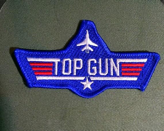 embroidered top gun iron