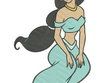 INSTANT DOWNLOAD Machine Embroidery Designs. Princess Jasmine. Aladdin.