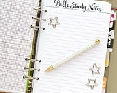 """A5 planner insert printable - Bible Study Notes (measures 5.8""""x8.3"""")"""