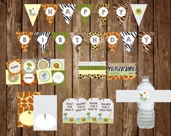 Safari Birthday Party Pack