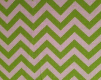 Lime Green Chevron Burp Cloth