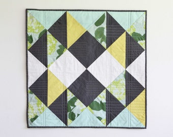 Variations on a Bouquet of Hydrangeas III : Modern Wall Quilt