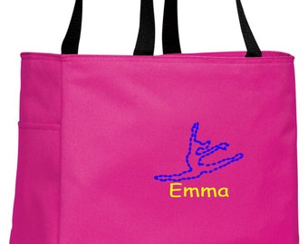 Personalized Dance Tropical Pink Essential Tote with FREE Personalization & FREE SHIPPING    B0750