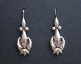 Native American Sterling Silver Drop Earrings