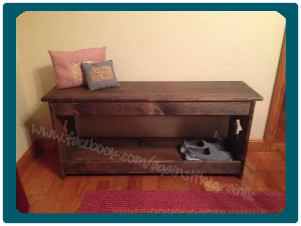 Handmade Wooden Shoe Boot Bench Seat Ideal By Againstthegrainllc