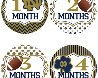 Notre Dame  Baby Belly Stickers ~ Fighting Irish Themed Monthly Baby Stickers (275)