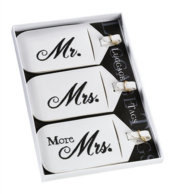 Mr. and Mrs. Luggage Tags for the Honeymoon