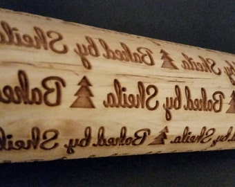Baked/Made by with your choice of spacer..Name Personalized Rolling Pin