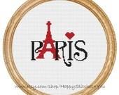 Cross Stitch Pattern PDF Paris DD0029