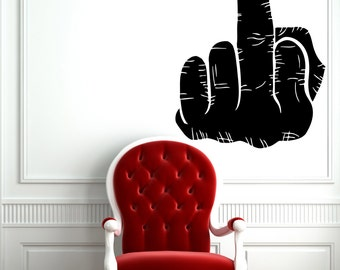 Middle Finger Decal Etsy