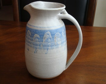 Enid Signed Hand Thrown Salt Glazed Pottery Pitcher!